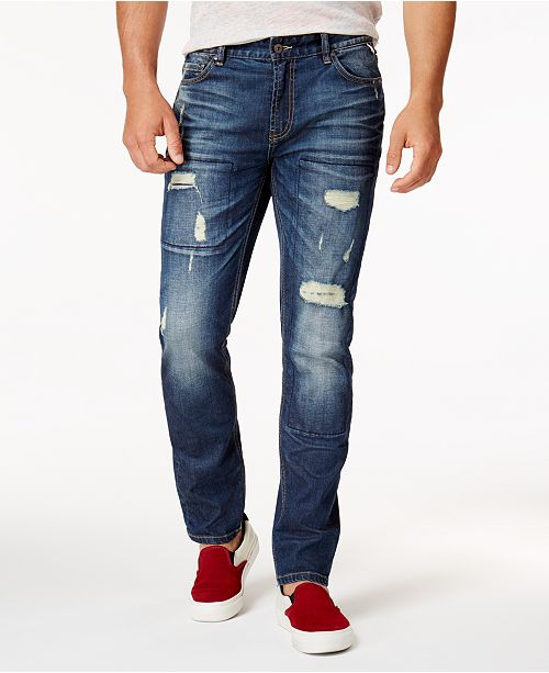 American Rag Men's Ripped Stretch Jeans, Created for Macy's .