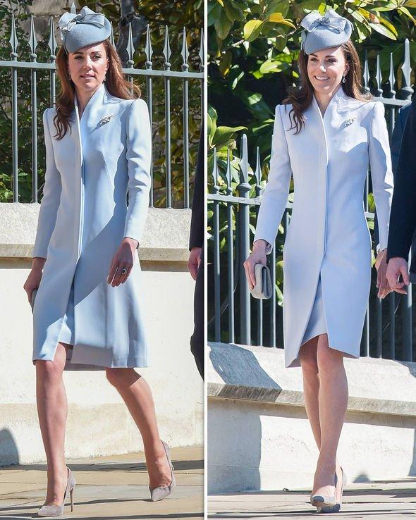 Kate Middleton wears wedding earrings at royal Easter Sunday .
