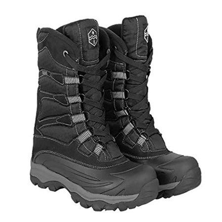 Khombu - Khombu Men's Free Fall Extreme Winter Boots, Black-12 .