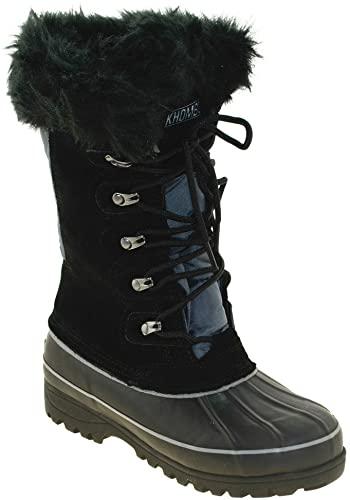 Amazon.com | Khombu Women's Waterpoof Winter Boots Nordic 2, Blk .