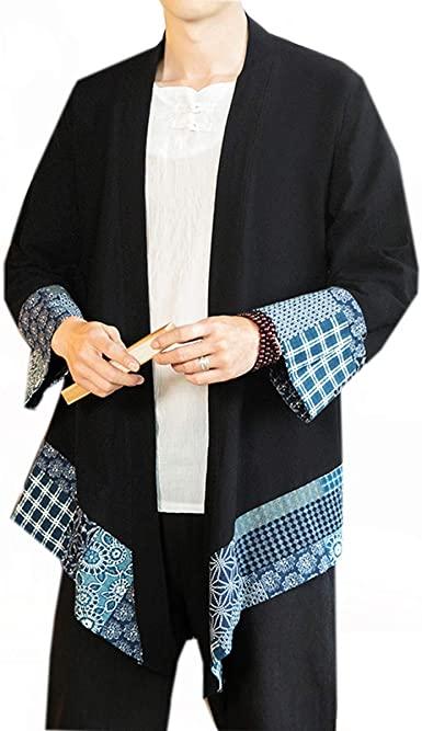 Amazon.com: PRIJOUHE Men's Japanese Fashion Kimono Cardigan Plus .