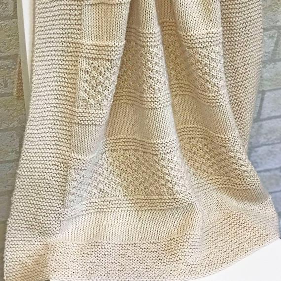 Knit Baby Blanket Pattern Brighten Blanket Easy Pattern   Et