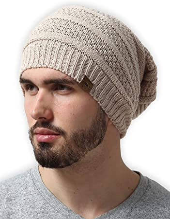 Amazon.com: Slouchy Cable Knit Beanie for Men & Women - Winter .