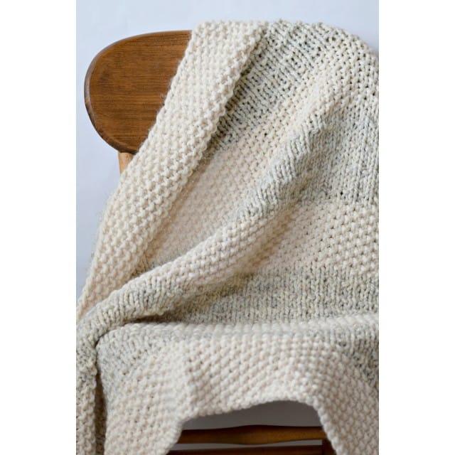 Knit Kit - Easy Heirloom Knit Blanket - Lion Brand Ya
