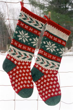 Holly Christmas Stocking Kits and Pattern - Annie's Woolens .
