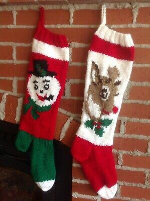 Personalized Hand Knit Christmas Stocking   eB