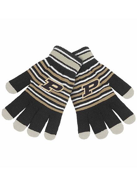 Purdue Stretch Knit Gloves | Purdue Team Sto