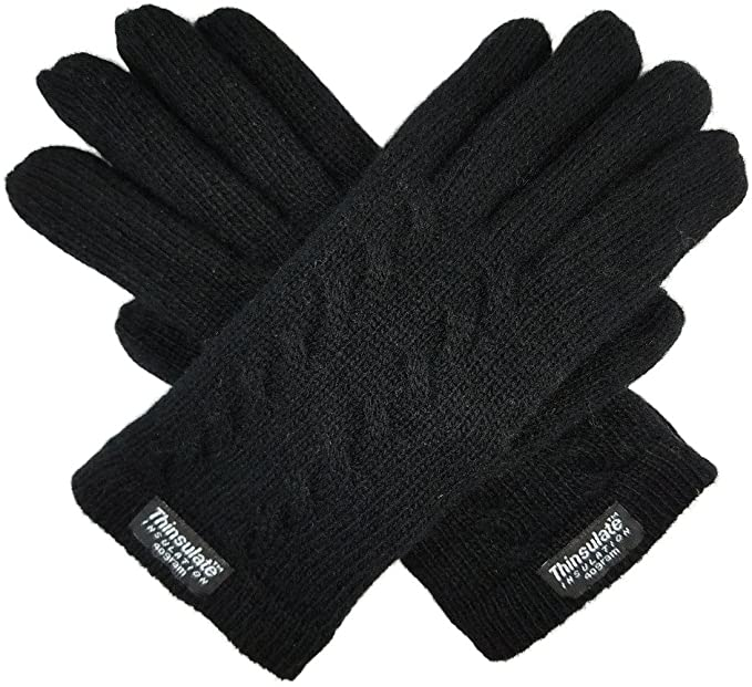 Bruceriver Ladie's Pure Wool Knit Gloves with Thinsulate Lining .