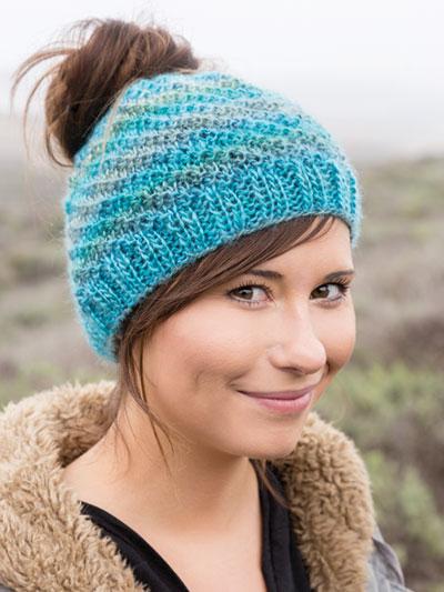 ANNIE'S SIGNATURE DESIGNS: Messy Bun Knit H
