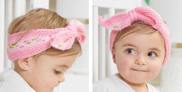 Hugs Knitted Baby Headband [FREE Knitting Patter
