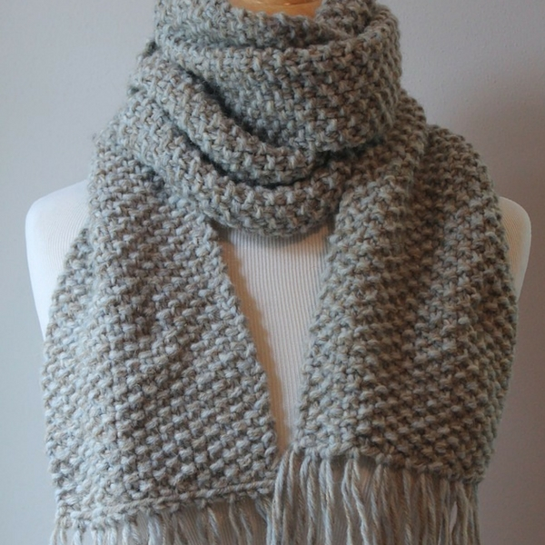 Free Beginner Scarf Knitting Pattern - Posh Patter