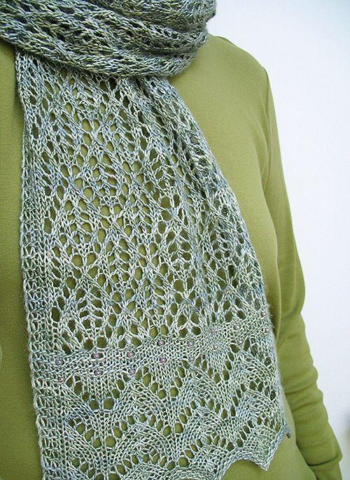 1 across | Scarf knitting patterns, Lace knitting, Knitting .