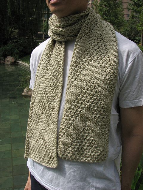 man's knit scarf - free pattern | Mens knitted scarf, Scarf .