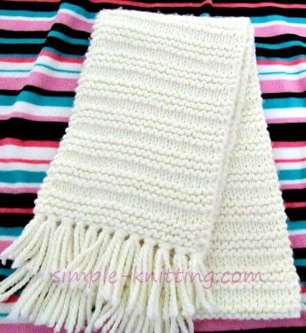 Cozy Scarf Knitting Patte