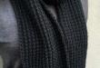 Broken Rib Unisex Knit Scarf Pattern | AllFreeKnitting.c