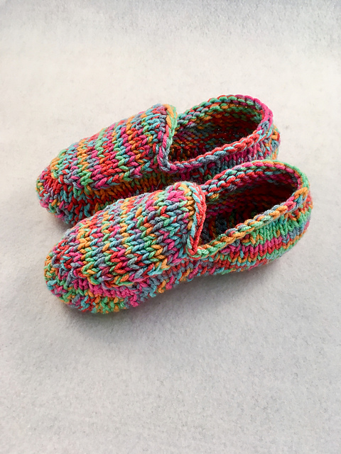 Ravelry: Kids Knit Slippers pattern by Monique R