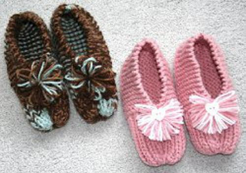Grandma's Knitted Slippers (Printable Pattern) | FaveCrafts.c