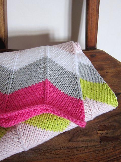 Ravelry: Chevron Baby Blanket pattern by Espace Tricot | Chevron .