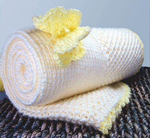Amazon.com: Acrylic custom knit baby blanket - Yellow Butterfly .