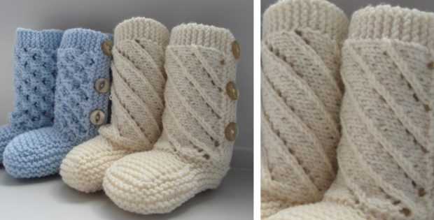 Adorable Knitted Baby Booties [FREE Knitting Patter