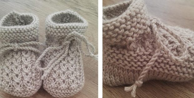 Little Eyes Knitted Baby Booties [FREE Knitting Patter