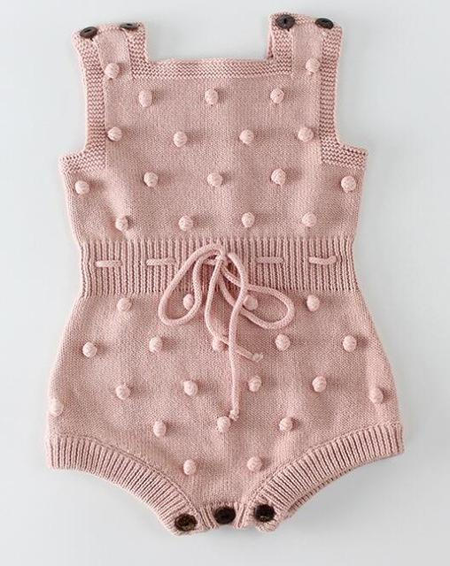 Knitted Baby Clothes Newborn Baby Rompers Handmade Pompom Baby .
