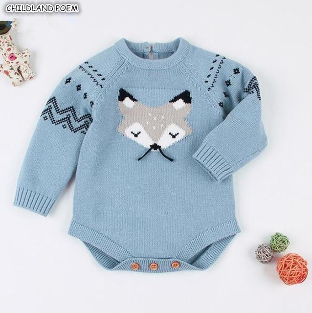 Knitted Baby Rompers Winter Baby Boy Romper Cotton Long Sleeve .
