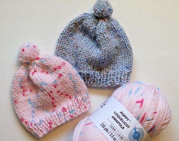 Knitting Newborn Hats for Hospitals | Baby hat knitting pattern .