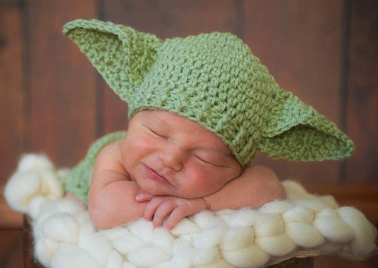 Baby Yoda Knitted Baby H