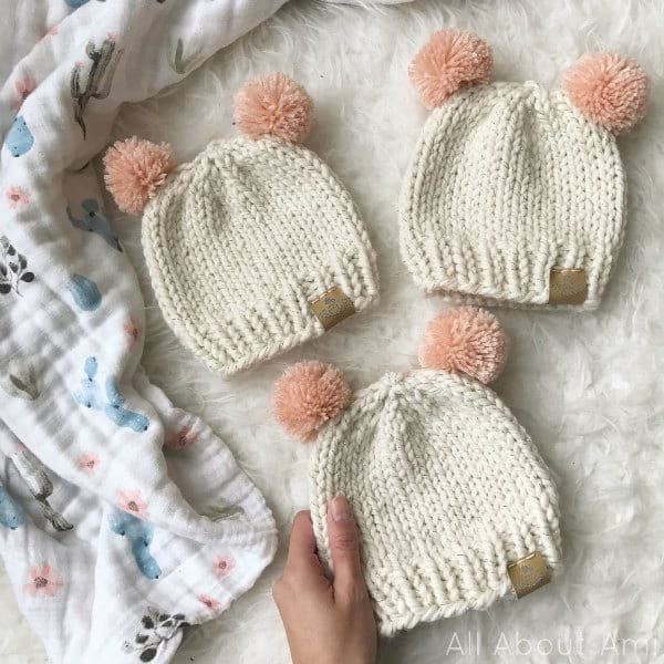 Knitted Baby Hats