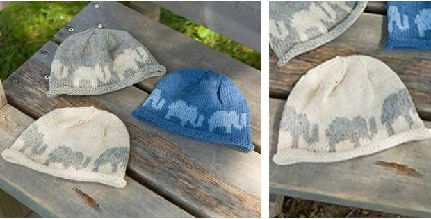 Elephant Knitted Baby Hat [FREE Knitting Patter