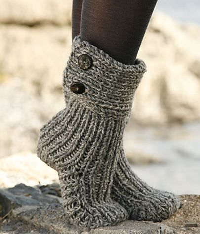 Cutest Knitted DIY: FREE Pattern for Cozy Slipper Boots | Crochet .