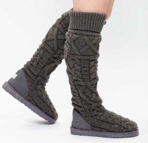 knee high flat boots fashion designer winter snow boots women's .