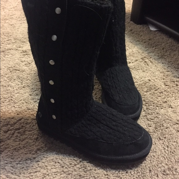 Skechers Shoes | Knitted Boots | Poshma