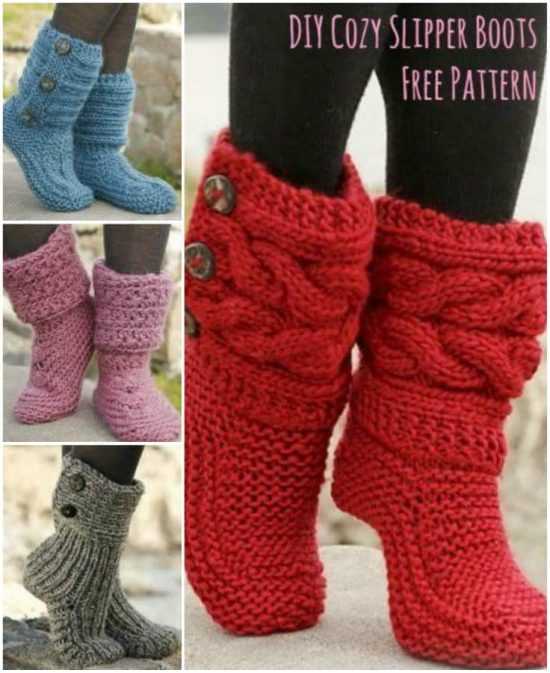 Knitted Slipper Boots Pattern Ideas You'll Love - The WHO