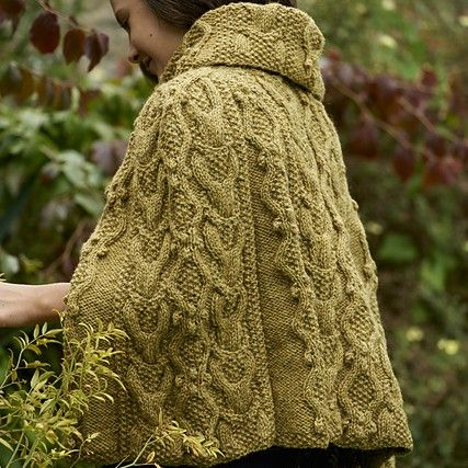 Adwen Cable Cape free knitting pattern | Easy knitting patterns .