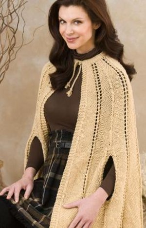 Fashionable Knitted Cape | FaveCrafts.c