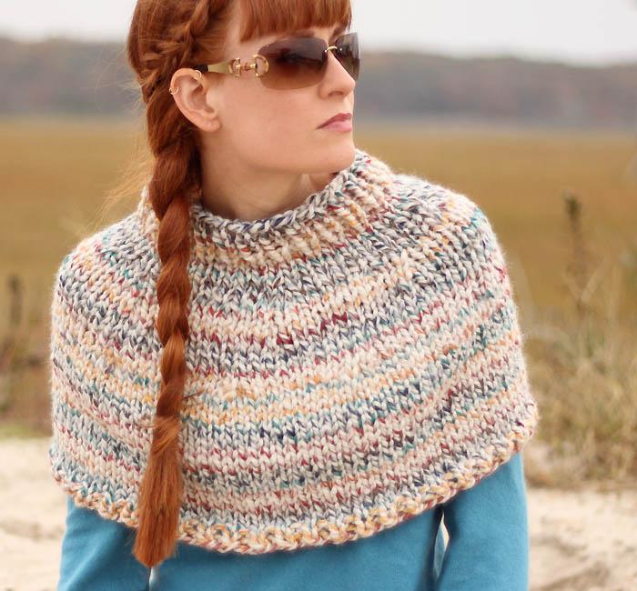 Fog Chaser Cape Knitting Pattern - Gina Miche