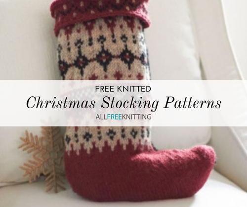 18 Free Knitted Christmas Stocking Patterns | AllFreeKnitting.c