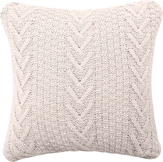 Amazon.com: famibay Knitted Pilllow Covers, Decorative Cotton .