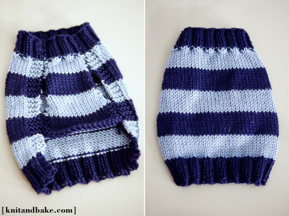 Linus' Sweater (easy dog sweater knitting pattern) | Knitted dog .