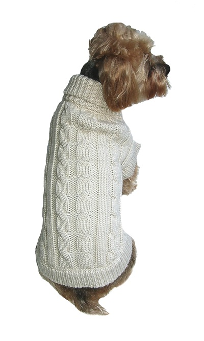 Classic Cable Knit Dog Sweater Quality Natur