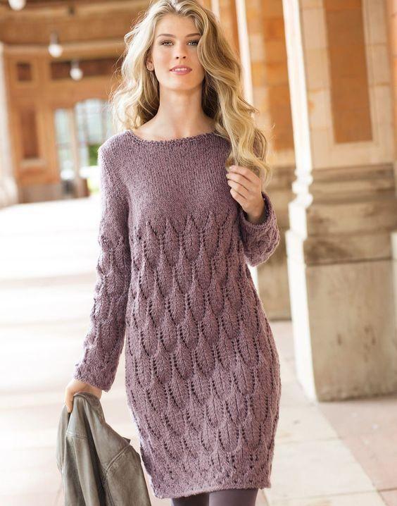 Women's Hand Knit Dress 8E   Long sweater dress, Knit fashion .