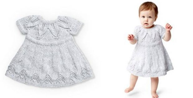 Fairy Leaves Knitted Dress [FREE Knitting Patter