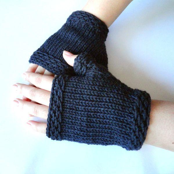Free Knitting Pattern - Fingerless Gloves & Mitts: Easy Knit .