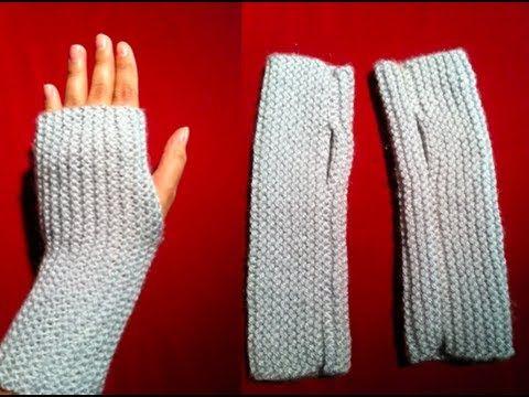 Knitted Fingerless Gloves – Video Tutorial | Fingerless gloves .
