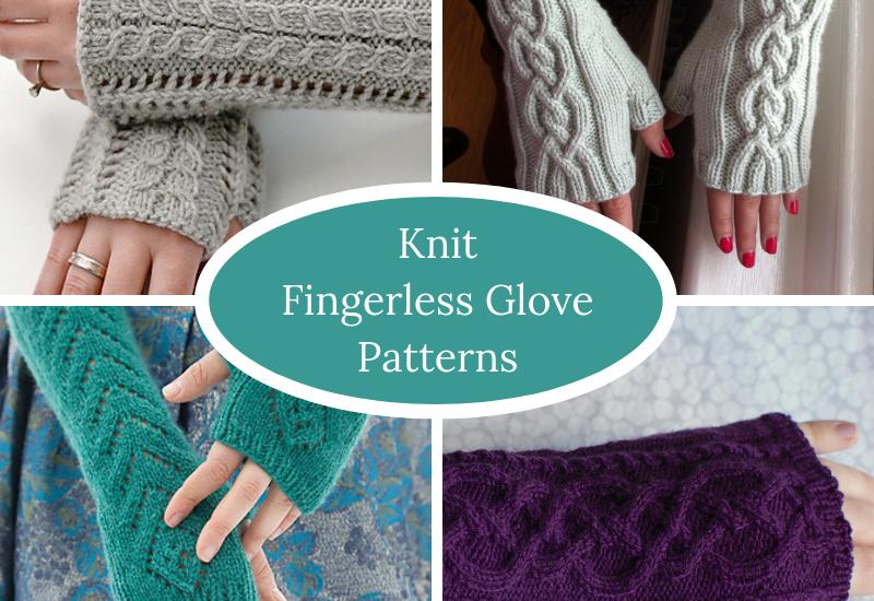 Knit Fingerless Glove Patterns | Squigglidin