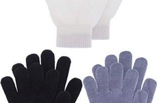 Amazon.com: Kids Gloves Full Fingers Knitted Gloves Warm Mitten .