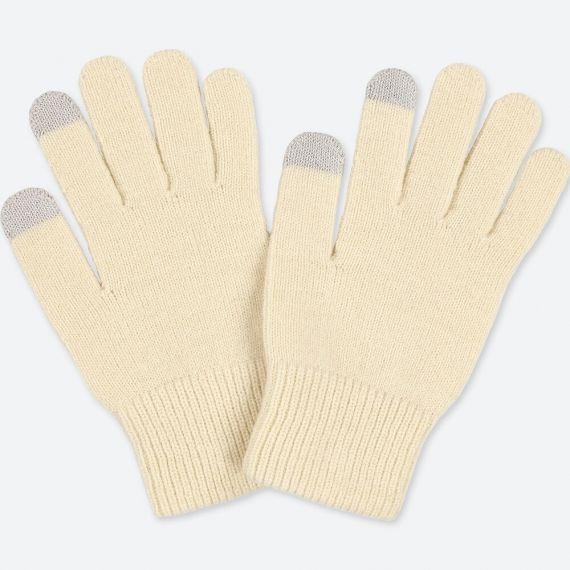 MEN HEATTECH Knitted Gloves   UNIQ