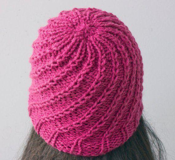 Easy Hat Knitting Pattern, Knit Beanie Hat PDF Pattern, Toque .